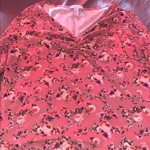 Long sleeve flowery shirt